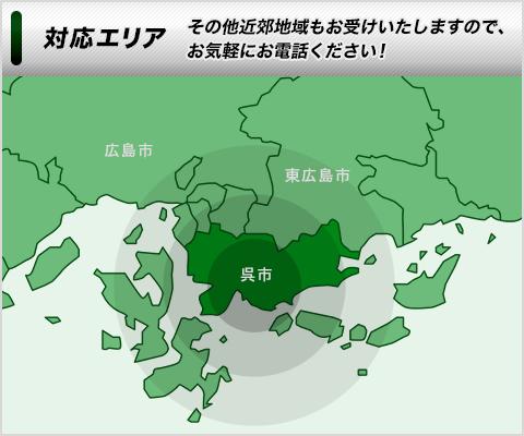 対応エリア|呉市周辺